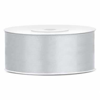 Cadeaulint zilver 25 mm