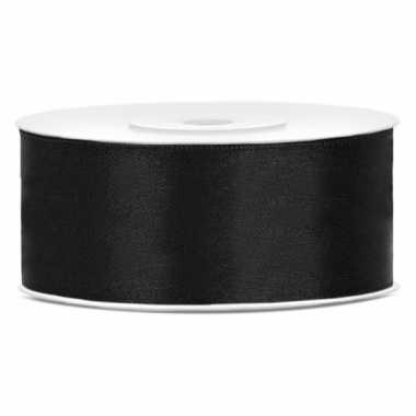 Cadeaulint zwart 25 mm
