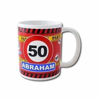 Cadeaumok 50 jaar abraham keramiek 250 ml
