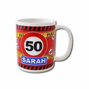 Cadeaumok 50 jaar sarah keramiek 250 ml