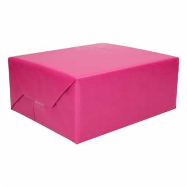 Cadeaupapier 2 kleuren paars/mint groen 200 x 70 cm