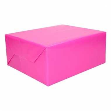 Cadeaupapier fuchsia roze 200 cm