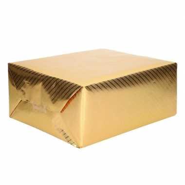 Cadeaupapier goud met motief 76 x 500 cm