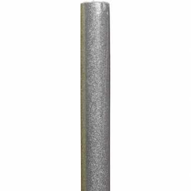 Cadeaupapier/kadopapier zilveren glitters 70 x 150 cm