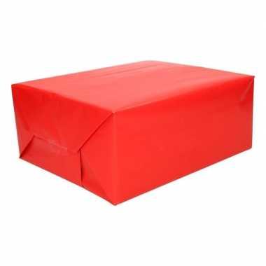 Cadeaupapier rood 200 cm