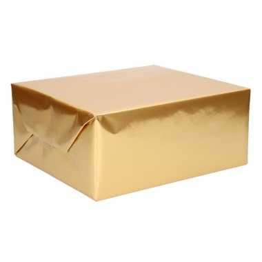 Cadeaupapier uni goud 76 x 500 cm
