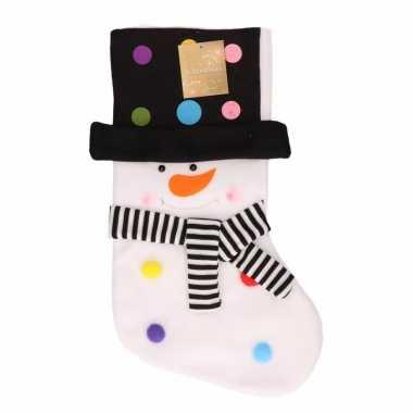 Cadeausok met sneeuwpop 50 cm