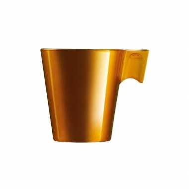 Caffe lungo mokje goudkleur