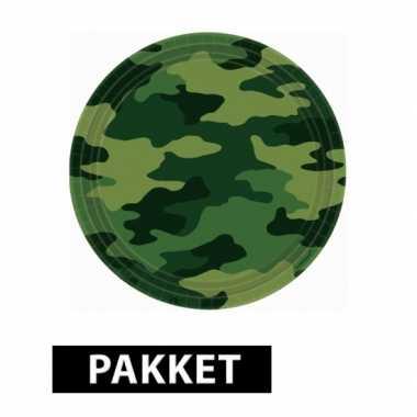 Camouflage feestje versiering pakket