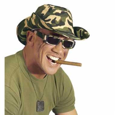 Camouflage leger brillen rechthoek