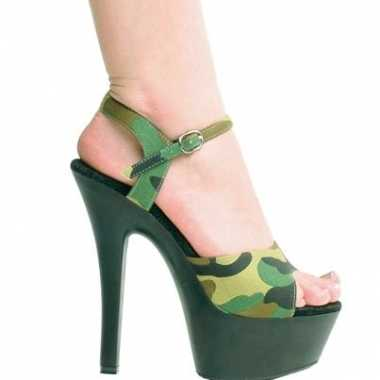 Camouflage leger print pumps