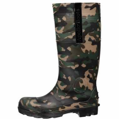 Camouflage rubberen laarzen voor heren