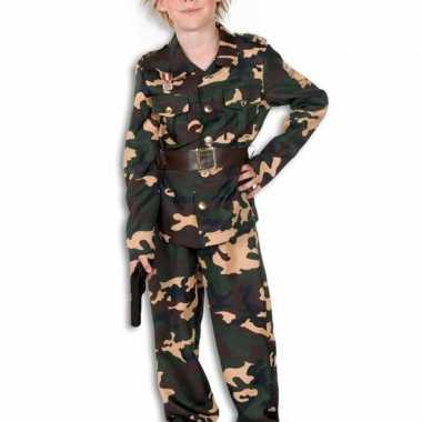 Camouflage verkleedkleding voor kinderen