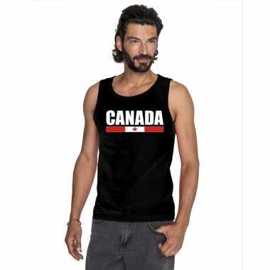 Canada supporter mouwloos shirt/ tanktop zwart heren