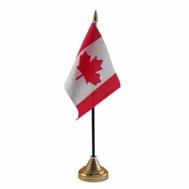 Canada versiering tafelvlag 10 x 15 cm