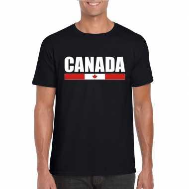 Canadese supporter t-shirt zwart voor heren