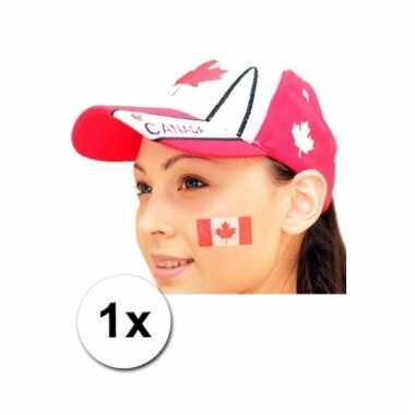 Canadese vlag tattoeage
