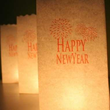 Candle bags set happy newyear 26 cm