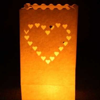 Candle bags set hart 26 cm