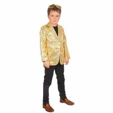 Carnaval colbert jasje goud voor kinderen
