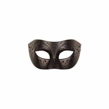Carnaval oogmasker zwart voor volwassenen