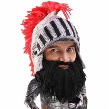 Carnaval ridder baardmuts met zwarte baard