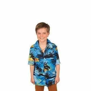 Carnaval verkleed shirt blauw voor jongens