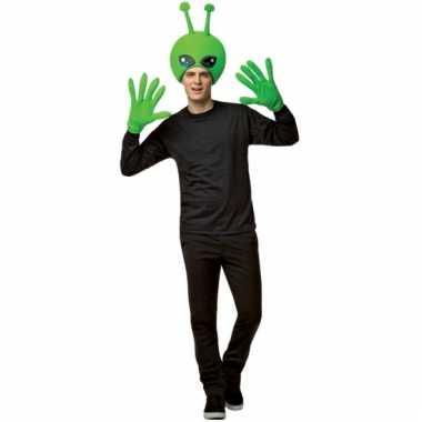 Carnavals verkleed setje alien