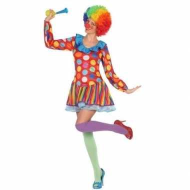 Carnavalskleding clown jurkje voor dames