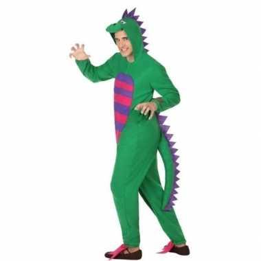 Carnavalskleding groene draak voor volwassenen