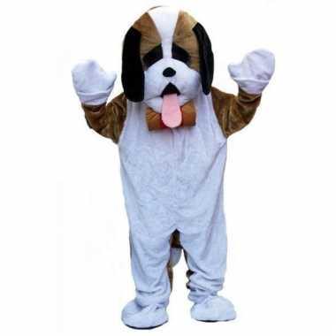 Carnavalskleding luxe pluche hond kostuum