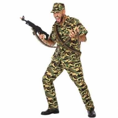 Carnavalskleding militair/soldaat voor heren