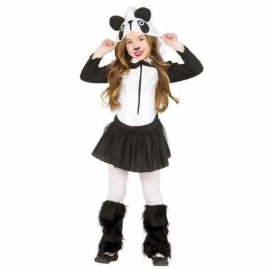 Carnavalskleding panda kostuum voor meisjes