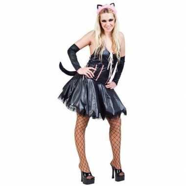 Carnavalskleding sexy poes/kat zwart