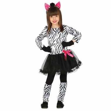 Carnavalskleding zebra kostuum voor meisjes