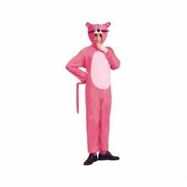 Carnavalskostuum roze panter voor volwassenen