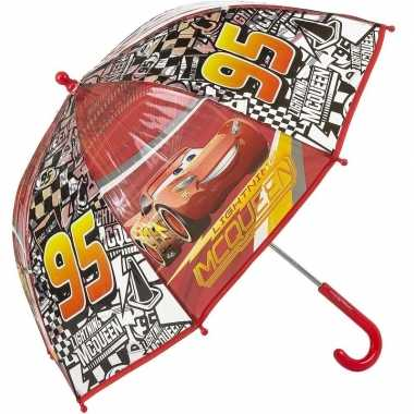 Cars bliksem mc queen kinderparaplu rood 45 cm