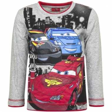 Cars longsleeve mc queen grijs