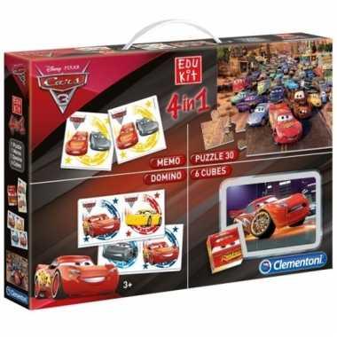Cars speel en puzzel box 4 in 1