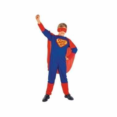 Cartoon superheld outfit voor kinderen