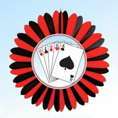 Casino versiering waaier 60 cm
