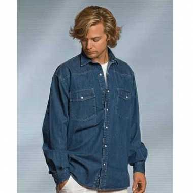 Casual blauw overhemd