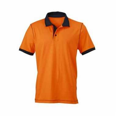 Casual dames poloshirt oranje
