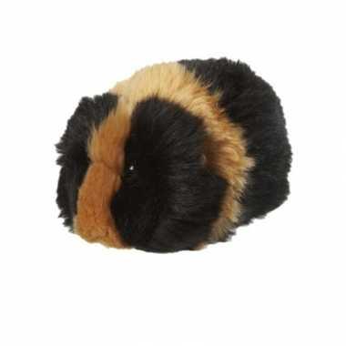 Cavia knuffeldier bruin zwart 13 cm
