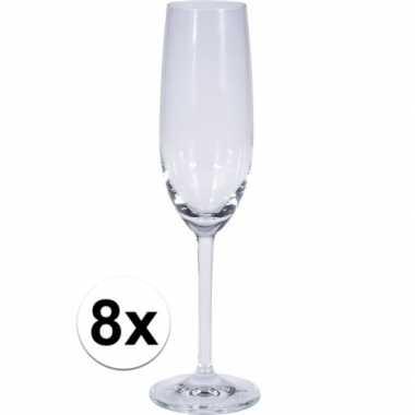 Champagne glazen 8 stuks