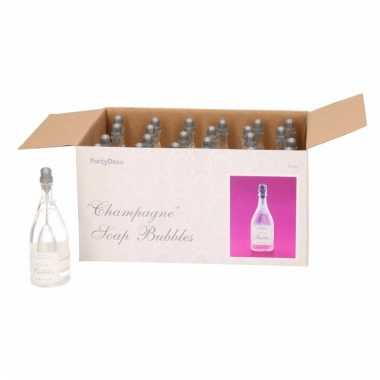 Champagnefles bellenblazen wit 24x