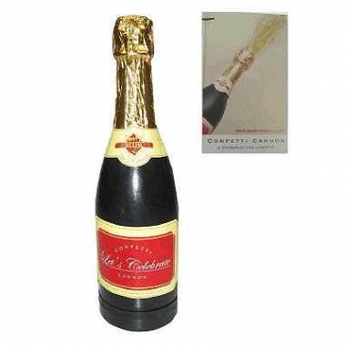 Champagnefles confettibom