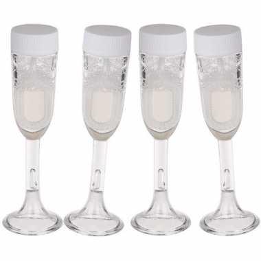 Champagneglas bellenblazen 4x