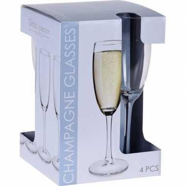 Champagneglazen 12x stuks 180 ml