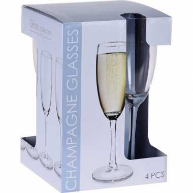 Champagneglazen 20x stuks 180 ml